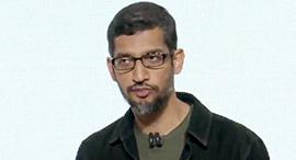 """סונדאר פיצ'אי מנכ""""ל גוגל ואלפבית, צילום מסך: Youtube"""
