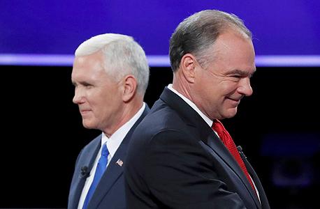 טים קיין והמועמד הרפובליקאי לתפקיד סגן הנשיא, מייק פנס