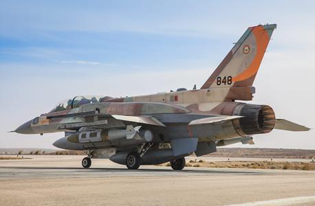 מטוס F16i ישראלי חמוש למשימת תקיפה