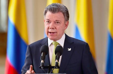 זוכה פרס נובל לשלום לשנת 2016, נשיא קולומביה חואן מנואל סנטוס
