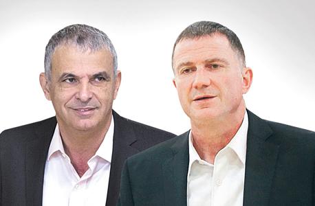 מימין יולי אדלשטיין ו משה כחלון, צילום: יונתן זינדל, אלכס קולומויסקי