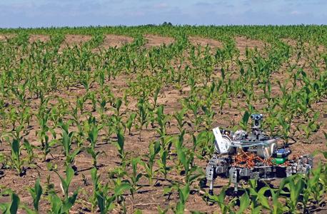 הזורע - Prospero סורק את הקרקע ומחפש מקום אופטימלי לזריעה. כשהוא מוצא כזה הוא שולף מקדח, קודח חור בעומק המתאים, משליך לתוכו את הזרע, מתיז חומרי דישון, מכסה את הבור ומסמן את המקום במערכת, כדי שהרובוטים האחרים יידעו שפה תפוס, צילום: Dorhout R&D LLC