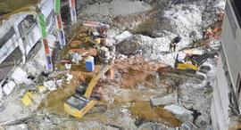 אתר חניון הברזל לאחר הקריסה, צילום: יאיר שגיא