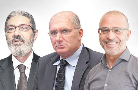 """מימין: מנכ""""ל חברת פרטנר איציק בנבנישתי, יו""""ר מיזם הסיבים דורון כהן ובעלי אקספון חזי בצלאל"""