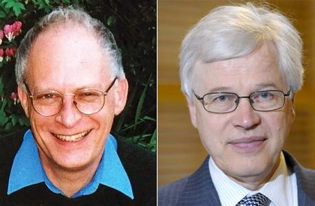מימין: פרופ' בנגט הולמסטרום ופרופ' אוליבר הארט, זוכי פרס נובל לכלכלה 2016