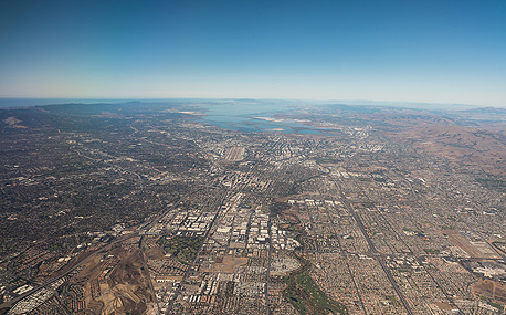 An aerial view of Silicon Valley. Photo: Shutterstock