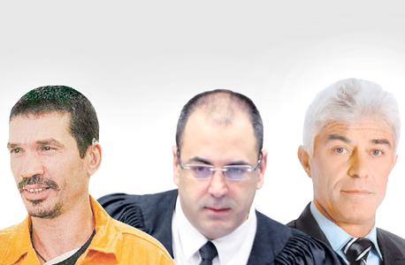 מימין: יאיר ביטון, השופט בני שגיא ויצחק אברג