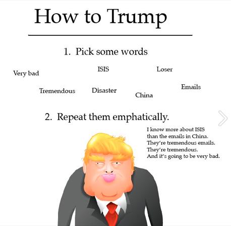 לדבר כמו טראמפ, צילום: The Oatmeal_Facebook