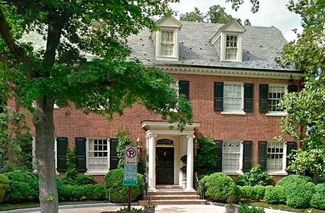 ביתם של הקלינטונים בוושינגטון הבירה, צילום: twitter