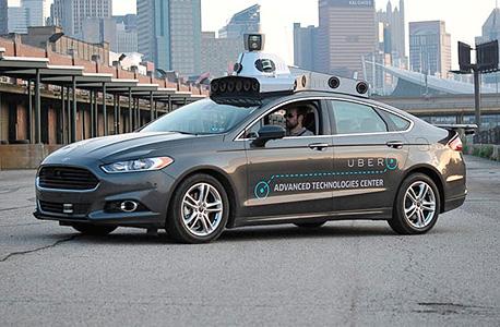 מכונית אוטונומית של אובר uber רכב אוטונומי