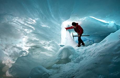 מערת קרח בניו זילנד (ארכיון)