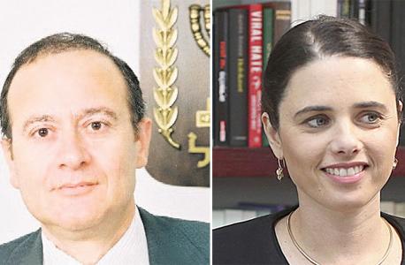 מימין איילת שקד ו כבוב אלרון, צילום: עמית שאבי, אתר בתי המשפט