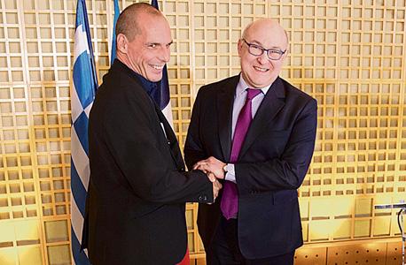 יאניס ורופקיס עם שר האוצר הגרמני וולפגנג שאובל