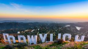 פוטו צילום אחורי אטרקציות תיירותיות שלט הוליווד, צילום: שאטרסטוק