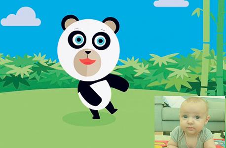 פנאי אפליקציה  My Baby Gym מזהה את פני התינוק ומתאימה את האנימציה 2