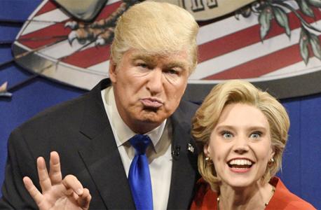 אפילו בסאטרדיי נייט לייב השלימו בין המועמדים הנצים, צילום: NBC