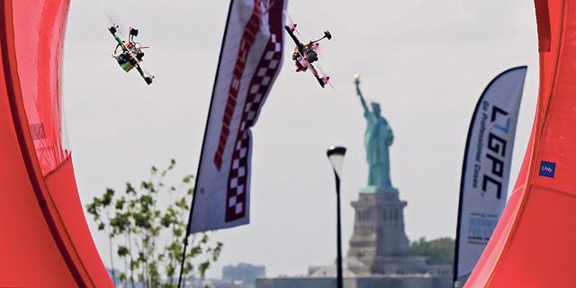 מירוץ רחפנים בניו יורק, צילום: איי פי