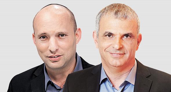 מגזין טכנולוגי 9.11.16 מימין משה כחלון ו נפתלי בנט, צילום: אלעד גרשגורן, אוראל כהן