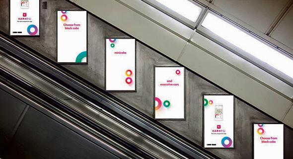 מודעות פרסומת של Karhoo בלונדון