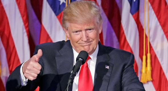 דולנד טראמפ בנאום ניצחון