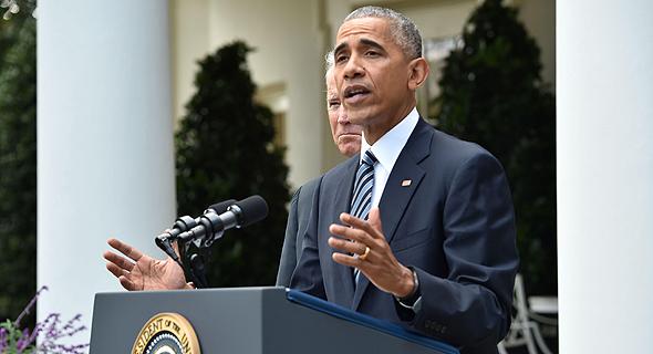 ברק אובמה מברך את דולנד טראמפ על הזכיה בבחירות, צילום: איי אף פי