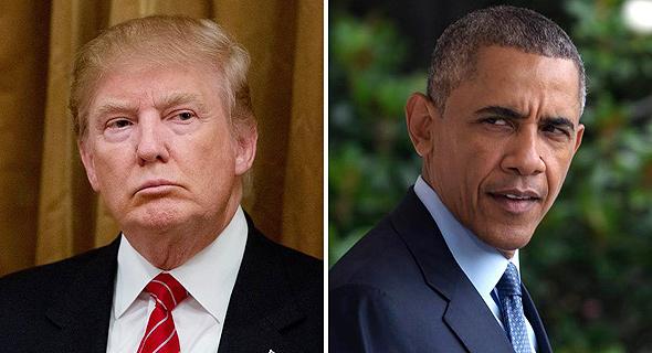 ברק אובמה ו דונלד טראמפ, צילום: איי פי, אי פי איי