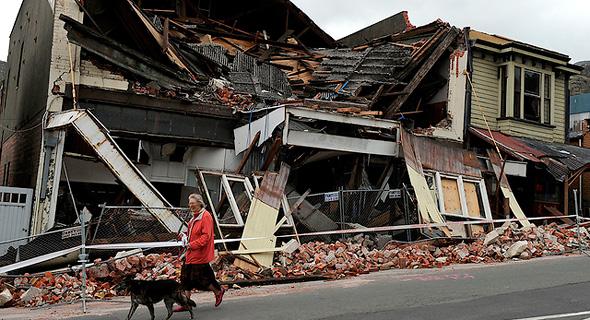 רעידת אדמה ניו זילנד 1, צילום: איי אף פי