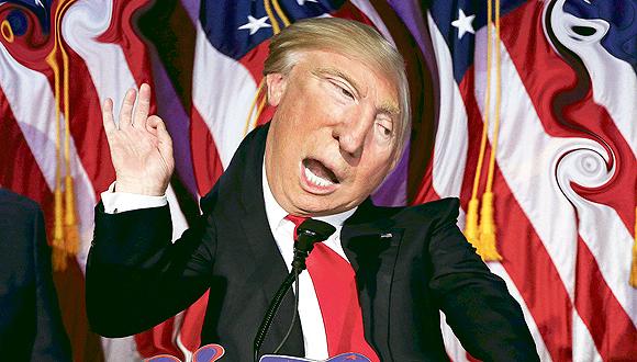 דונלד טראמפ בתמונה מעוותת, צילום: רויטרס