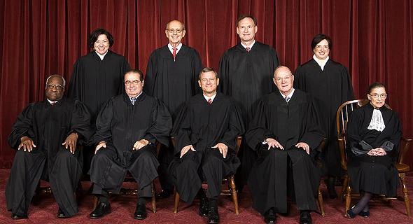 """שופטי בית המשפט העליון של ארה""""ב, צילום: ויקיפדיה"""