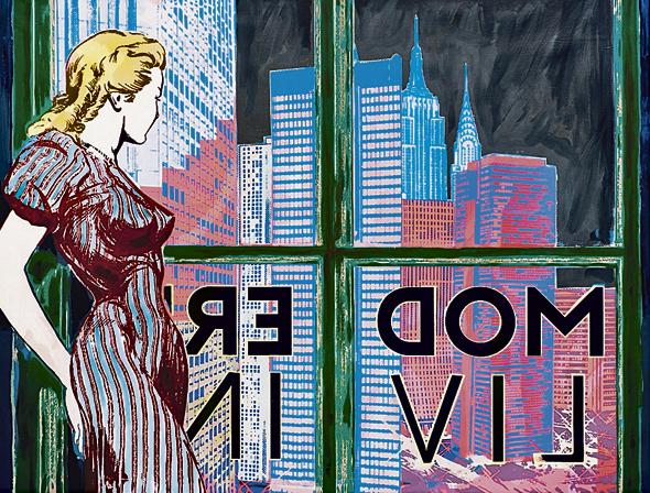 ציור של Faile. שואבים השראה מתרבות אמריקאית פופולרית