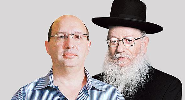 """מימין: יעקב ליצמן שר הבריאות ואבי ניסנקורן יו""""ר ההסתדרות"""