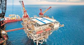 """קידוח גז טבעי מאגר תמר, צילום: יח""""צ"""