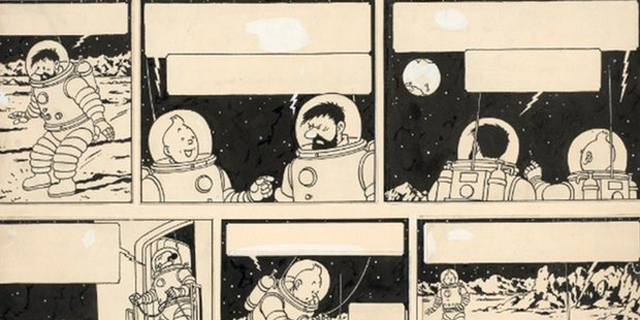 איור מקורי של גיבור הקומיקס טינטין נמכר ב-1.55 מיליון יורו