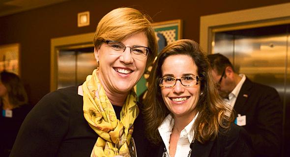 מימין: מנהלת פעילות Hamilton Lane בישראל לימור בקר ופיונה דרמון, שותפה ו־COO ב־JVP, צילום: אוראל כהן