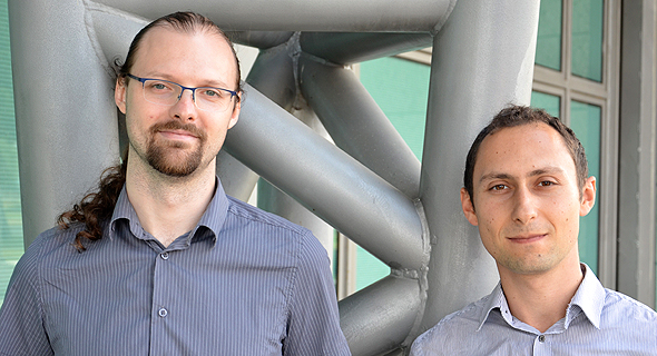 Aperio CEO Michael Shalyt (right) and CTO Yevgeni Nogin. Photo: Raphael Kahan
