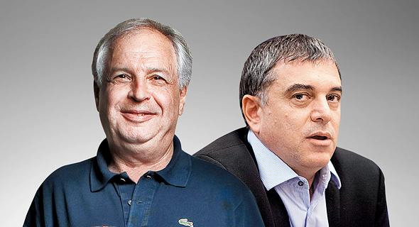 """מימין: מנכ""""ל משרד התקשורת המושעה שלמה פילבר ובעל השליטה בבזק שאול אלוביץ'. קיבל יחס מועדף"""