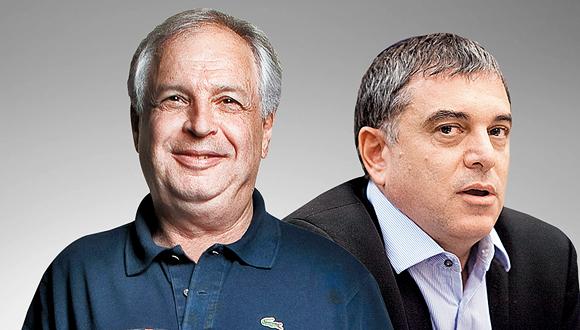"""מימין: מנכ""""ל משרד התקשורת שלמה פילבר, ובעל השליטה בבזק, שאול אלוביץ'"""