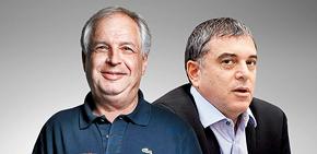 מימין שלמה פילבר ושאול אלוביץ' , צילום: עומר מסינגר, קובי קלמנוביץ'
