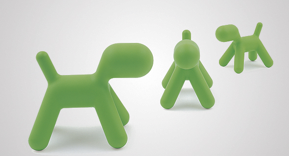 Puppy, 2005. הכלבלב שעיצב ארניו לסדרת רהיטי הילדים Me Too של חברת מג'יס