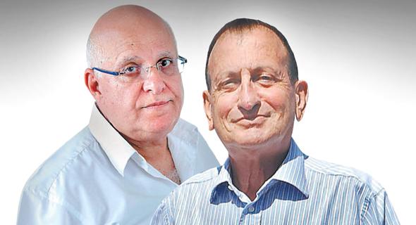 מימין ראש עיריית תל אביב רון חולדאי ו ראש מטה הדיור אביגדור יצחקי, צילום: יובל חן, עמית שעל