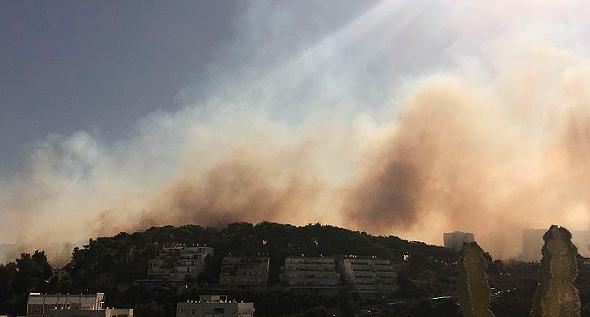 עשן מעל חיפה