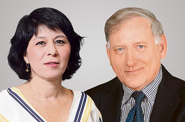 מימין יאיר סרוסי ו חדוה בר, צילום: סיון פרג', אלכס קולומויסקי