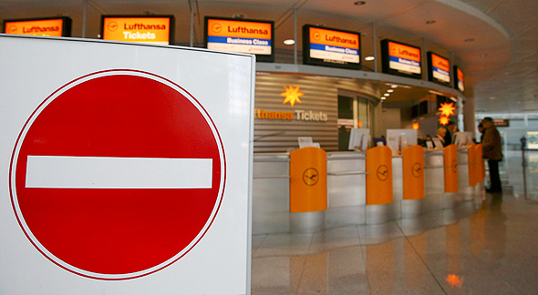 שביתת טייסים בחברת לופטהנזה גרמניה, צילום: רויטרס