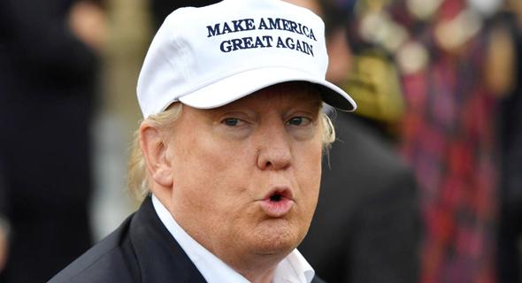דונלד טראמפ מחאה בפרי הגליל, צילום: אימג'בנק