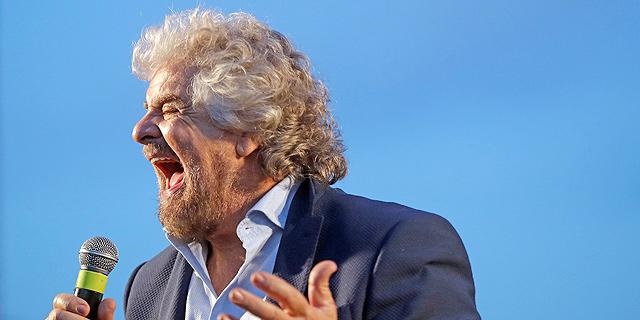 בפה גרילו, מנהיג תנועת 5 הכוכבים, צילום: איי פי