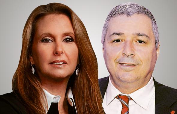"""מימין אריק פינטו מנכ""""ל בנק הפועלים ו שרי אריסון בעלת השליטה בבנק הפועלים, צילום: אוראל כהן , ורדי כהנא"""