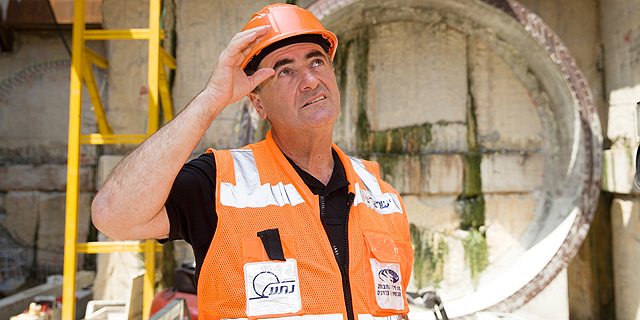 ישראל כץ כשר התחבורה. ביקור בעבודות הרכבת הקלה, צילום: אוראל כהן