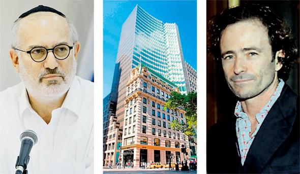 מימין ג'קי שימל בניין HSBC שתיווכו האחים לאי.די.בי ובעל השליטה אדוארדו אלשטיין
