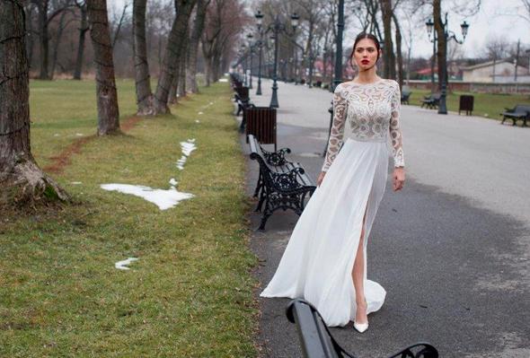 שמלת כלה של שלומית אזרד. 1,000 שקל במקום 8,000 שקל, צילום: אלון שפרנסקי
