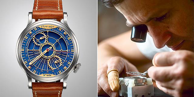 בכיוון השעון: איתי נוי מרכיב ביפו שעונים נדירים